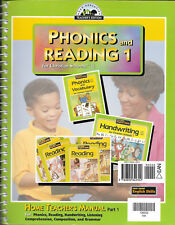 Phonics and Reading 1 for Chrisitan Schools by Bju Home Teachers Manual Part 1