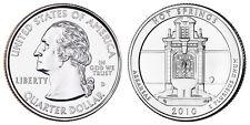 2010 D US Hot Springs Arkansas America The Beautiful Quarter Dollar - 2 BU Coins