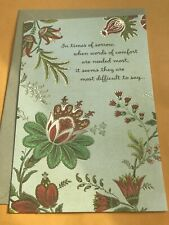 Hallmark Sympathy Greeting Card Thoughtful * 5 Card Purchase Will Ship For Free*