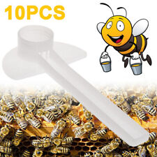 10pcs Plastic Beehive Beekeeper Bee Feeder Water Drink Feeding Fountains Usa