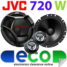 VW GOLF MK6 JVC 720 Watts 17cm 6.5 Inch Front Door Component Kit Car Speakers