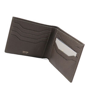 Tom Ford Olive Grained Leather Classic Bifold Wallet