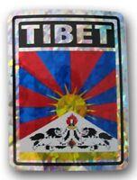 "Tibet Country Flag Reflective Decal Bumper Sticker 3.875"" x 3"""