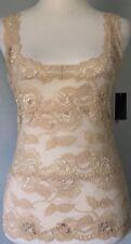 $190**S*M* NATORI stretch lace silky cami dress blouse jacket tunic top tee tank