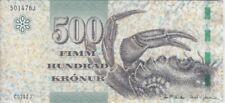 Faeroe Islands Banknote P32 500 Krónur 20(11), UNC