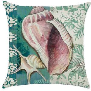 Ocean Sea Life Theme Throw Pillow Case Sofa Throw Cushion Cover Bed Home Decor