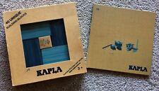 Kapla 40 Unique Building Blocks w/ Full Color Art Book Blue & Light Blue