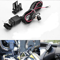 12v Motorcycle Waterproof Dual USB Charger Phone GPS Power Socket Adapter Outlet