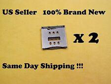 2 x iPhone 5 5c & 5s Nano SIM Card Holder Tray Reader Repair Motherboard US