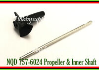 NQD-757 6024 RC JET Part Inner Shaft with Propeller for RC Boat Replacement x 1