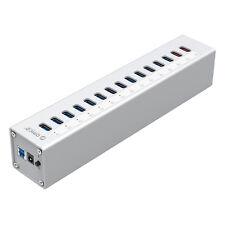 ORICO USB 3.0 High Speed 13 Ports USB Hub Expansion Splitter +2 USB Power Supply