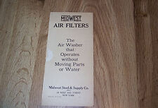 Midwest Air Filters Brochure - Midwest Steel & Supply Co  ILLUS c1930