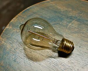LOT: 4 Edison Globe Light Bulbs, 60watt Spiral Filament Vintage Reproduction A19