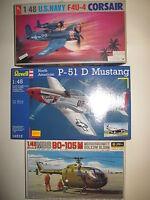 MBB BO-105 M F 4U-4 CORSAIR P-51 D MUSTANG SCALA 1:48