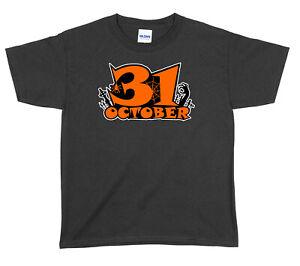 31st October Halloween Boys Girls Unisex Funny T-Shirt