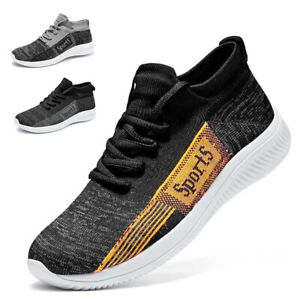 Mens Casual Knit Trainers Mesh Lightweight Comfort Running Sports Shoes Outdoor
