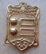 Geschenknet Antik Messing Klingel 2 Jugendstil Klingelschild Klingelplatte  K15P