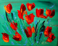 Flowers Mark Kazav Large Abstract Modern Original BY KAZAV Painting Canvas