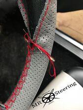 Pour DATSUN SUNNY B310 gris perforé Volant en cuir couverture rouge double St