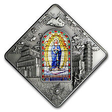 2016 Palau Silver $10 Sacred Art Stained Glass (Pisa Cathedral) - SKU #104071