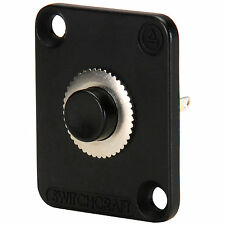 Switchcraft EHPBSMBB Momentary Pushbutton Switch SPDT Black