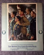"""Norman Rockwell Boy Scout CALENDAR LITHO SAMPLE 1940s-1950 8 1/2"""" by 7 1/4"""" #c20"""