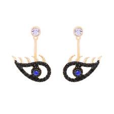 Women Fashion Earrings Ear Stud Crystal Rhinestone Jewelry Big Black Devil Eye