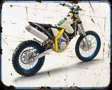 HUSABERG fe 570 12 1 A4 Metal Sign moto antigua añejada De