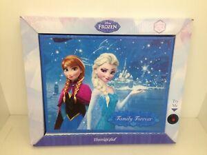 """Mr Christmas Frozen Family Forever IlluminArt Lighted Canvas Art 8"""" x 10"""" #11834"""