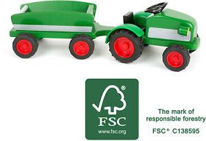 Traktor mit Anhänger aus FSC® 100%-zertifiziertem Holz Wood - Friends