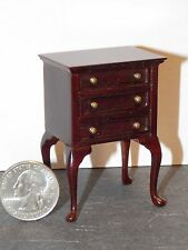 Dollhouse Miniature Queen Anne Night Stand Bespaq Mahogany 1:12 1 inch scale G81
