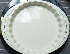 Longaberger Pottery Traditions Classic Green Baking Dish 1 Qt 1.5 L X 9� Dia