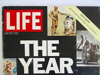 1978 LIFE Magazine Year In Pictures STAR WARS C-3PO R2-D2 Farah Fawcett Elvis