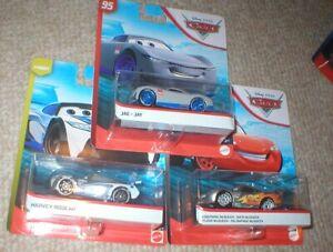 DISNEY PIXAR CARS LOT OF 3- I SILVER TONE LIGHTNING MCQUEEN, JAE, AND HARVEY ROD