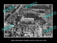 OLD LARGE HISTORIC PHOTO OF HITCHIN HERTFORDSHIRE ENGLAND, VIEW OF TOWN c1930 2