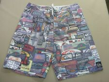 087 BOYS EX-COND QUIKSILVER RELAXED FIT MULTI COLORED BOARDSHORTS 16 $70 RRP.