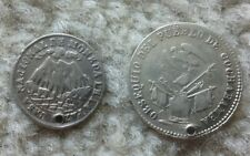 1853 & 1863 Bolivia Proclamation Holed Silver Medals
