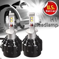 2X 80W H1 Black LED Headlight Lights High/Low Beam Conversion 8000LM Bulbs White