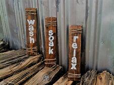 "Handmade Wooden Bathroom Sign.....""Relax, Wash, Soak""...Great Housewarming Gift"