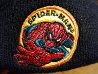 Kids Spider Man Black Embroidered Beanie Winter Hat   Acrylic Spiderman