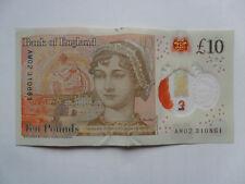 LUCKY £10 NOTE JANE AUSTEN TEN POUND BIRTHDAY & ANNIVERSARY 31 08 61 AUGUST 1961