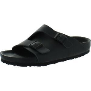 Birkenstock Womens Zurich Black Leather Flat Footbed Sandals Shoes 40 BHFO 3674