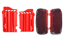 New CR 125 250 00-04 CRF 450 03-04 Radiator Louvres Plastics & Mesh Covers Red
