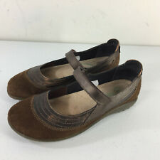 NAOT 38 US 7 Kirei Brown Leather Mary janes Comfort Casual Excellent