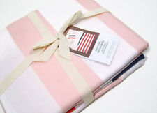 West Elm Orange Blush Blue Prep Stripe Multi Colors King Duvet Cover 2 Euro Sham
