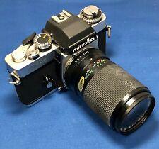Minolta XE-5 35mm Film Camera with Vivitar 55mm Macro Focusing Zoom Lens