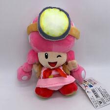"""Super Mario Archivist Toadette Plush Teddy Treasure Tracker Soft Toy Doll 8"""""""