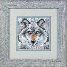 NUOVE DIMENSIONI d07211 MINI KIT 14 mesh tela CALL OF THE WOLF Arazzo KIT 13cm