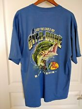 Git-R-Done BASS PRO SHOPS T Shirt Larry The Cable Guy Bass Fishin Blue 2XL XXL