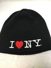I Love NY No Fold Heart Winter Hat Beanie Cap Black